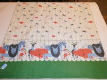 BOLT OF FABRIC W/ JUNGLE ANIMALS. APP 3 FT X 12 1/2 FT.