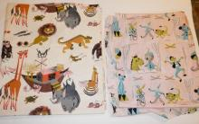 2 PC FABRIC- CHILDREN'S DESIGNS- 16 FT X 3 FT AND 9 FT X 4 FT- TOWN AND COUNTRY