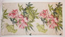 COFABCO FLORAL PRINT FABRIC. 4 FT X 15 FT