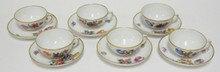6 ROYAL COPENHAGEN CUP AND SAUCER SETS. NO SCRATCHES IN THE MARKS. NO 4/1551.