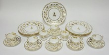 21 PC ROYAL CHELSEA BONE CHINA: SEVEN 8 3/4 IN PLATES, 6 SAUCERS AND 8 CUPS. 3 CUPS HAVE SOME STAINING ON THE INSIDE.