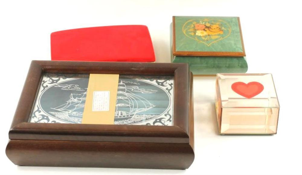 Lot of 4 Jewelry Boxes