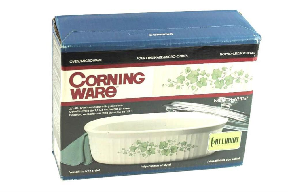 Corning Ware Callaway French White 2 1/2 Qt Casserole, Sealed in Orig Box