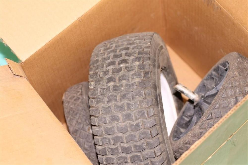Set of 3 Wheels, Possibly for a Wheel Barrow