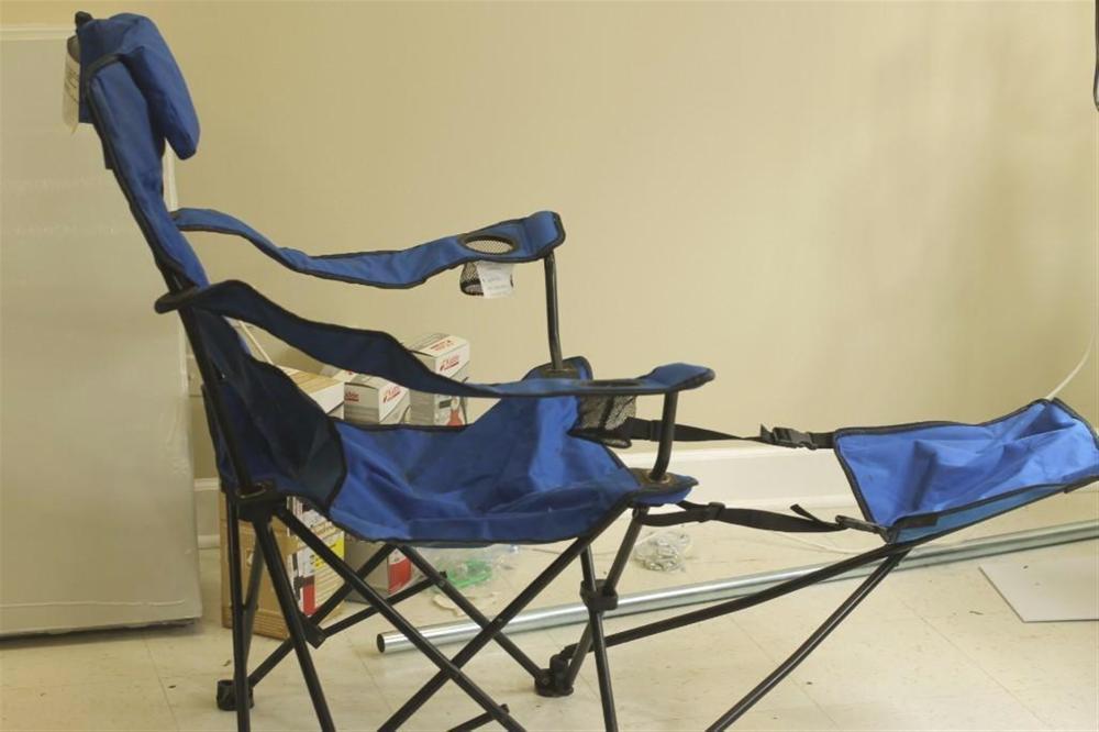Blue Canvas Folding Chair