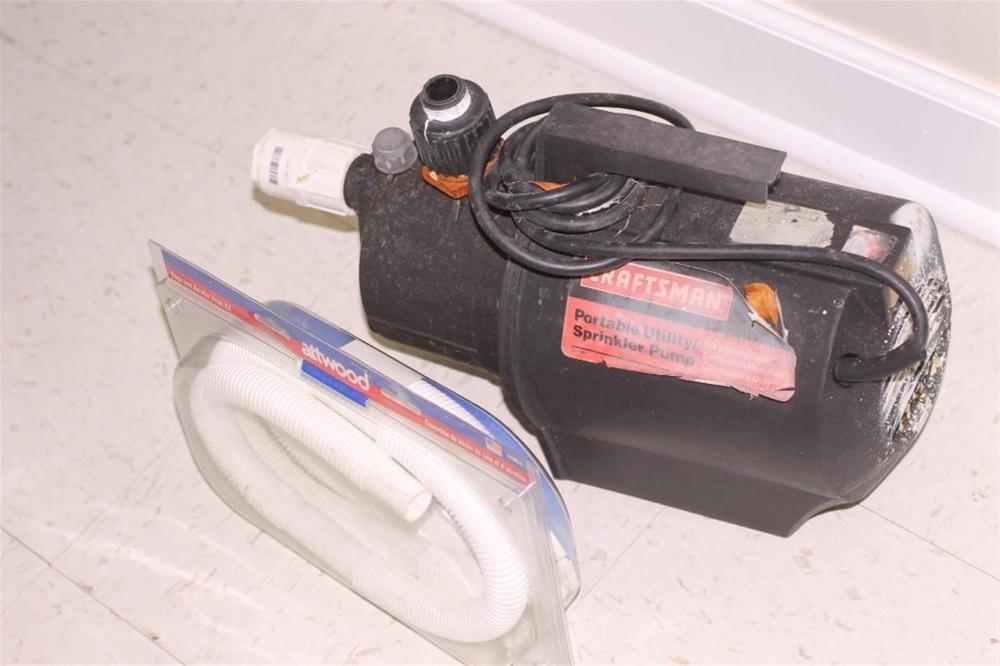 Craftsman Portable Utility Sprinkler Pump, Works