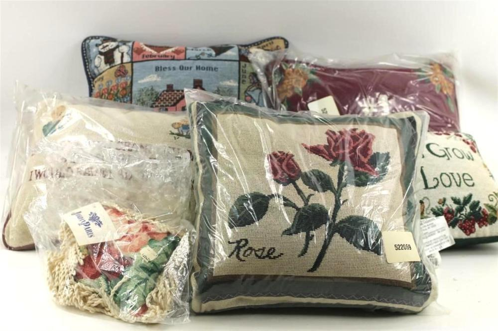 Lot of Tapestry Pillows