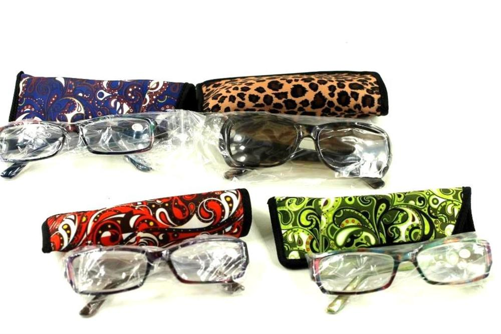 4 Pairs of Reading Glasses and 4 Glasses Cases