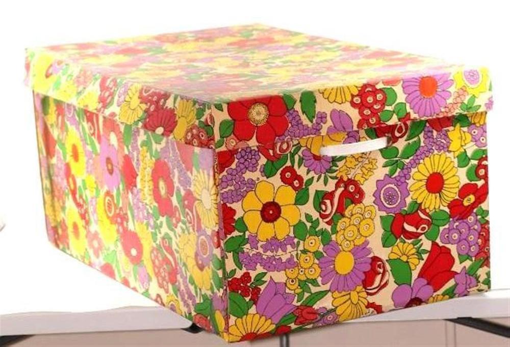 Large Vintage Cardboard Storage Box