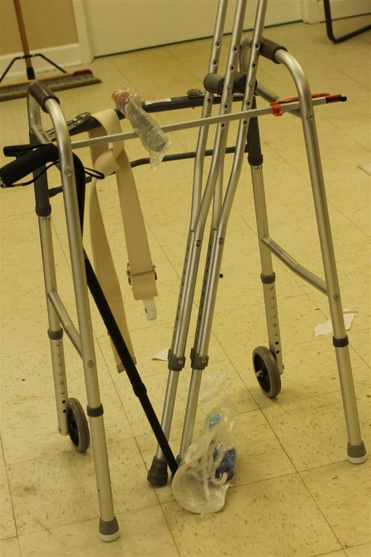Medical Lot incl Walker, Crutches, etc