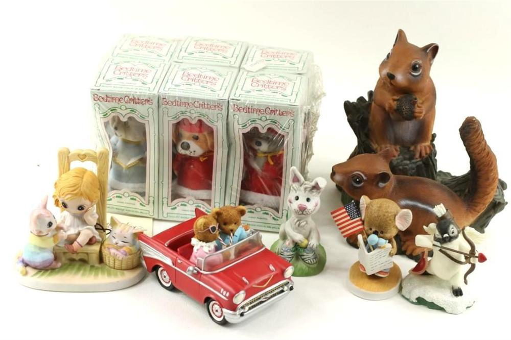 Lot of Animal Figurines incl Bedtime Critters, Suzy's Zoo, etc
