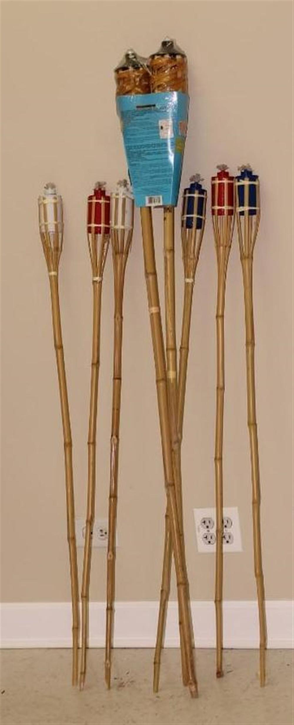 8 Tiki Torches