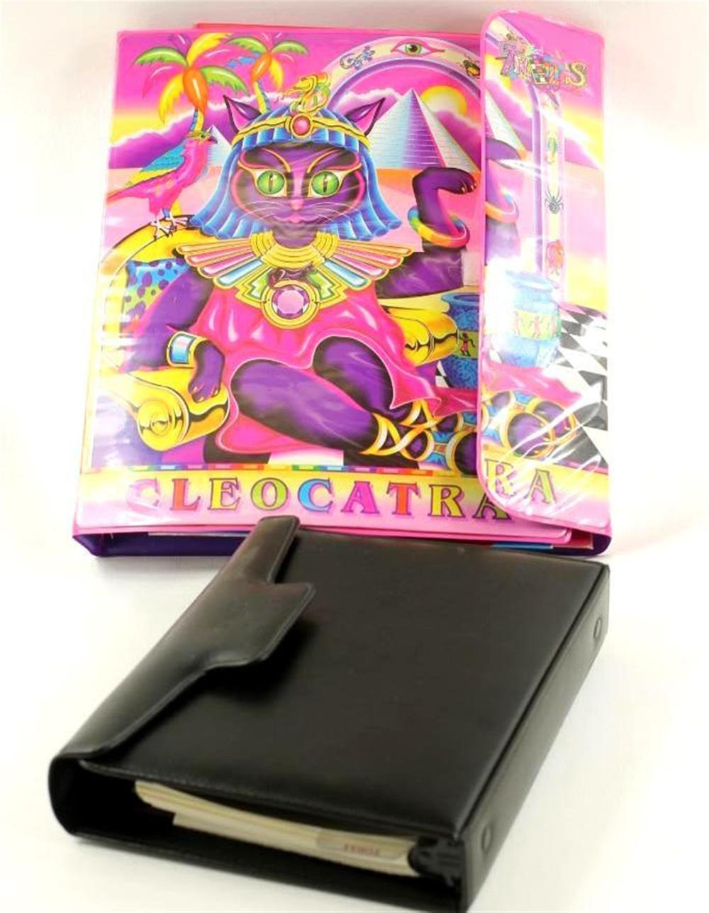 Lisa Frank Cleocatra Binder and another planner