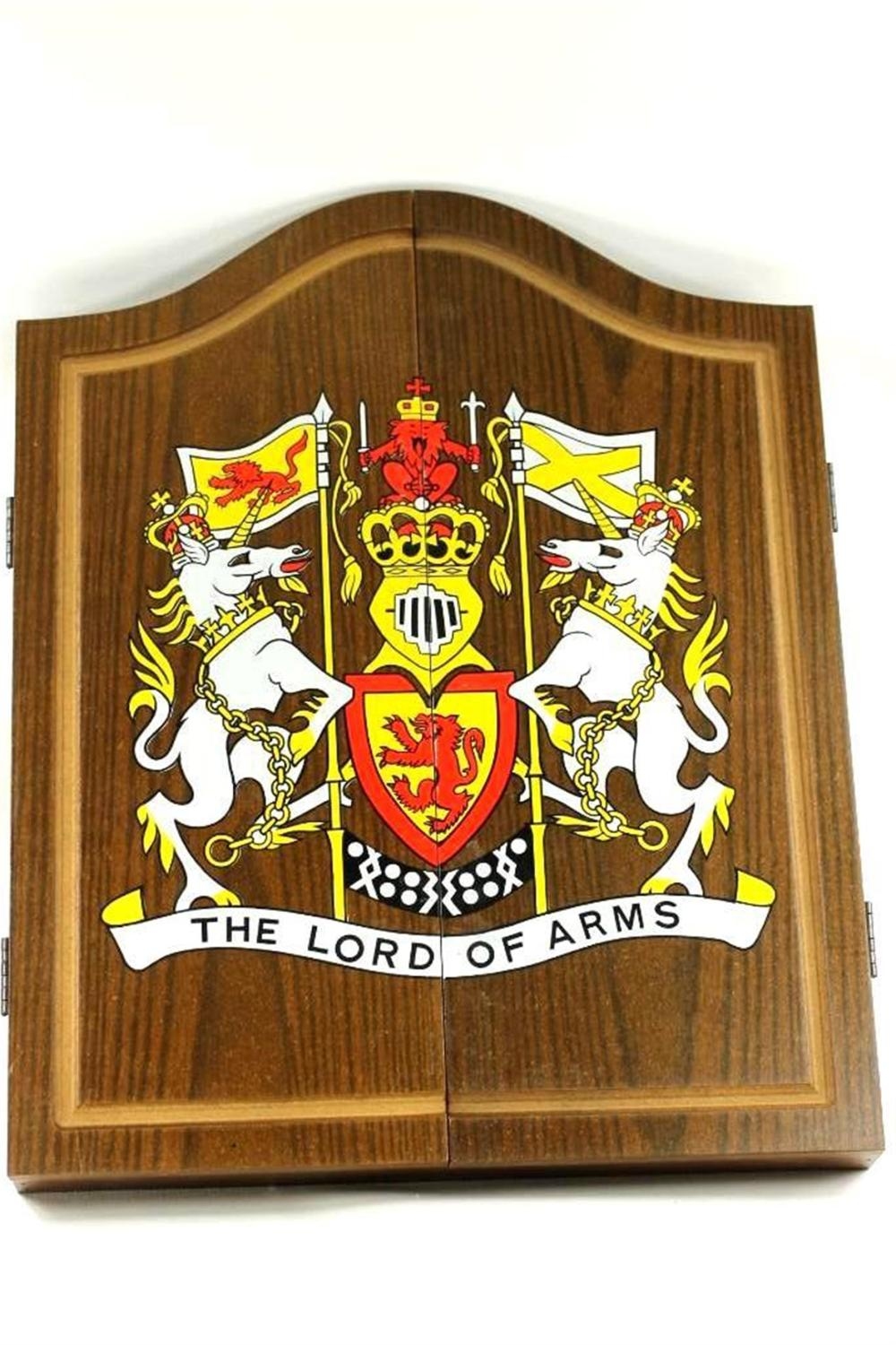 """Dart Board and Darts """" The Lord of Arms """" Set"""