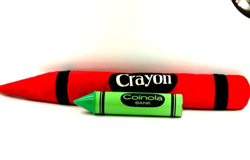 Plush Red Crayon and Green Crayon Bank