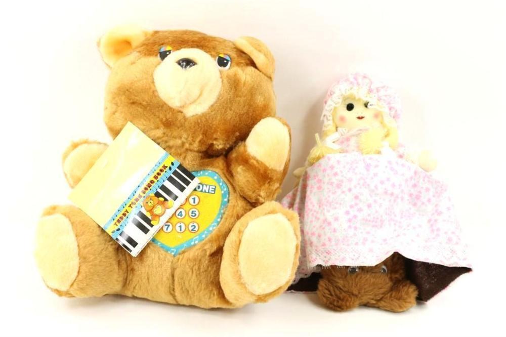 1 Topsy Turvy Doll and 1 Teddy Bear