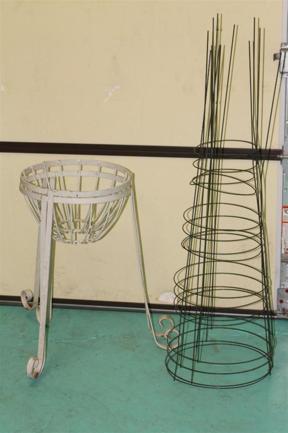 Outdoor Plant Stands and Tomato Cages