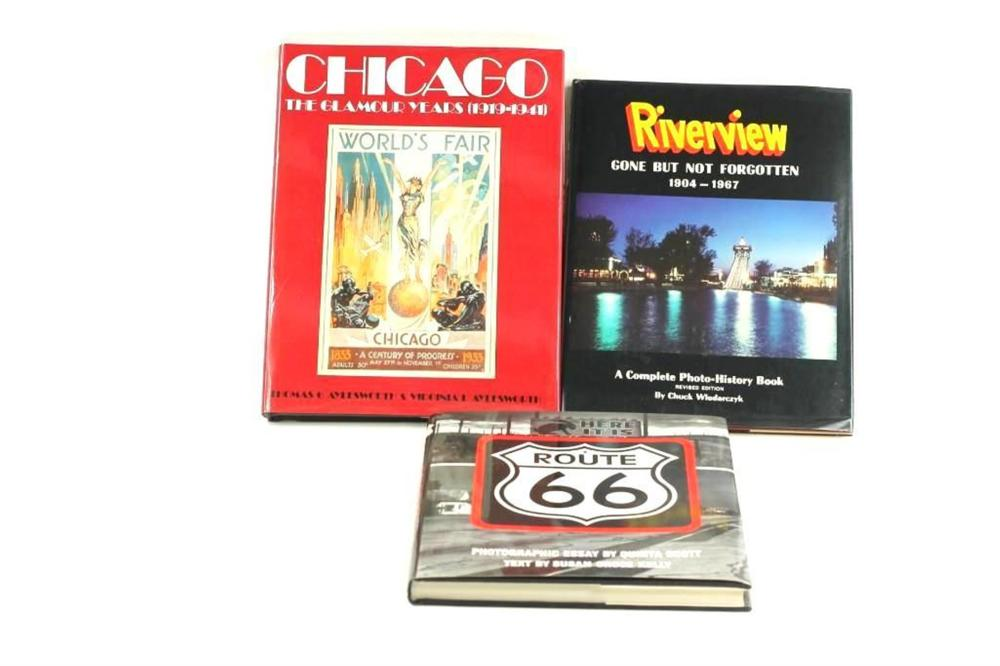 3 Books, Riverview Gone But Not Forgotten, Chicago the Glamour Years, and Route 66