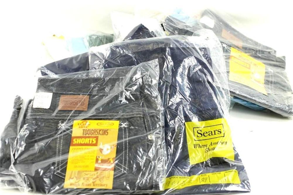 Lot of Vintage Clothing, New Old Stock, Mostly Shorts, Some Denim