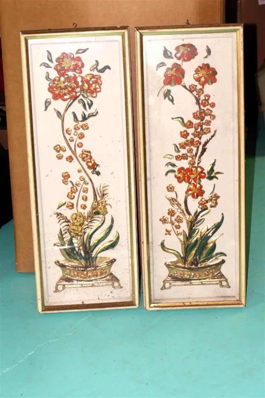 2 Vintage Floral Pictures