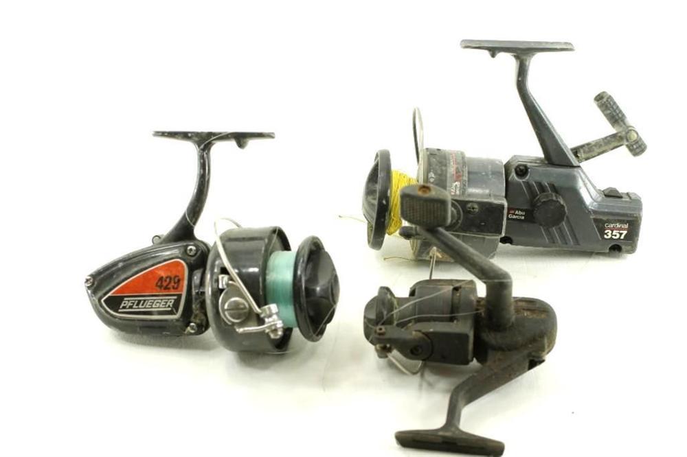 3 Fishing Reels incl Pflueger 429 and Cardinal 357