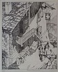 Leonard Beaumont The Club Hut 1932 Etching 25 x 21, Leonard Beaumont, Click for value