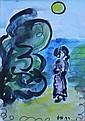 Dora Holzhandler Woman, Son and Sea Watercolour 20