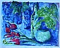 Margaret Nicholson Tulips Monotype 40 x 52 cm