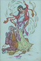 H Karbassi Three oriental scenes Watercolour and