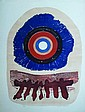 Michael Rothenstein Radial Shakes Colour woodcut