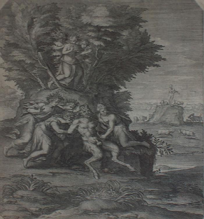 Leonard Gaultier (1561-c.1641) Pan Engraving 25 x