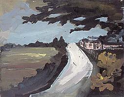 Charles Messent (1911-71) Coast Road Enamel paint