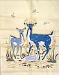 Silkscreen Print Three Deer - Woody Crumbo