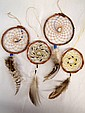 Collection of 4 Dream Catchers, Beads & Feathers
