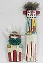 2 Hopi Cradle Board Kachina Dolls