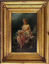 Hans Zatzka (1859-1945), The Danubian beauty, oil