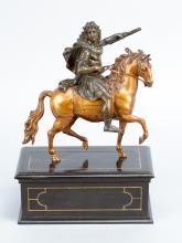 Francois Girardon (1628-1715)-school, Equestrian sculpture of Louis XIV