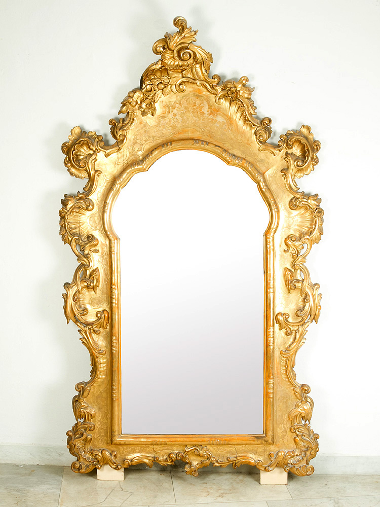 Large Hall Mirror In Baroque Style