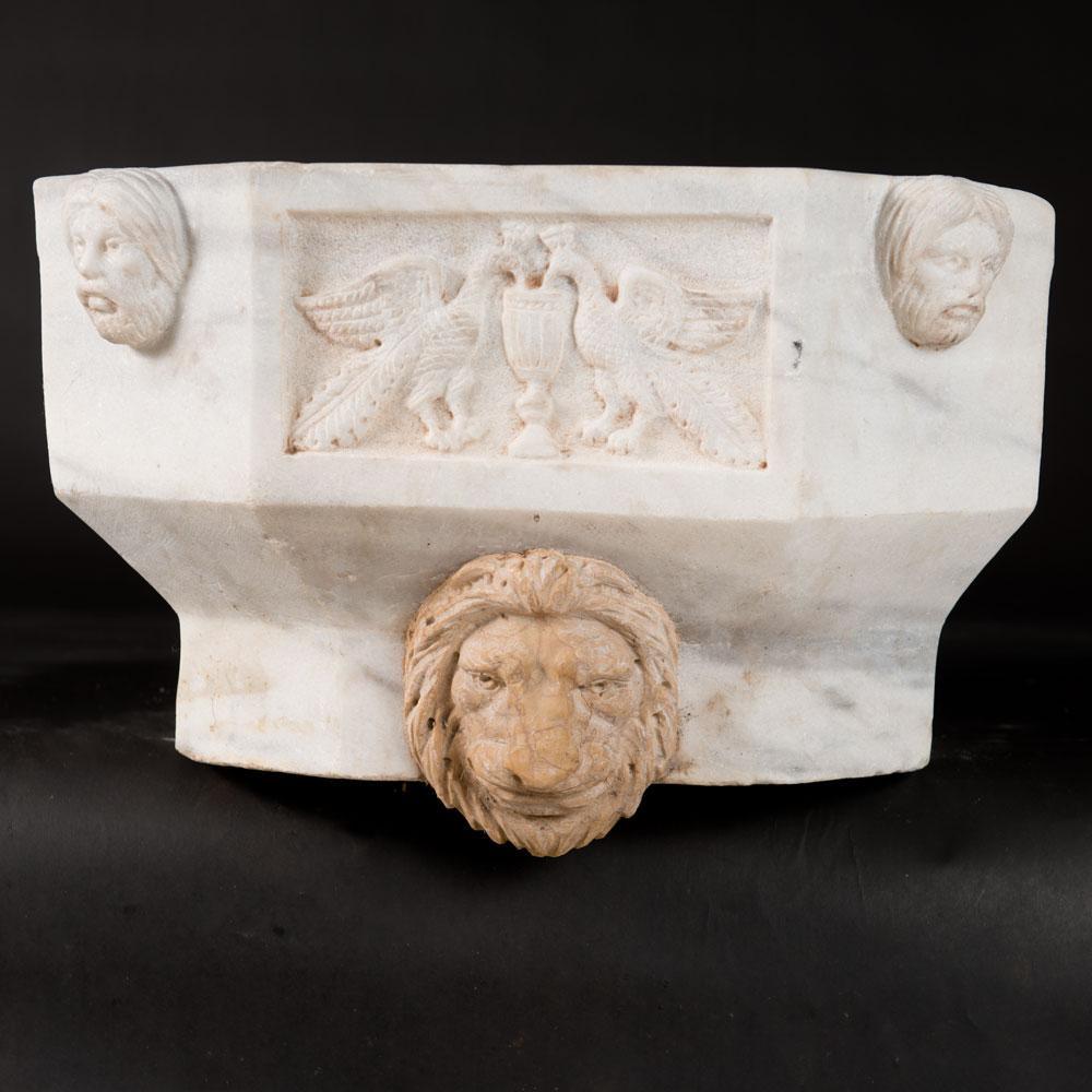 Italian marble basin