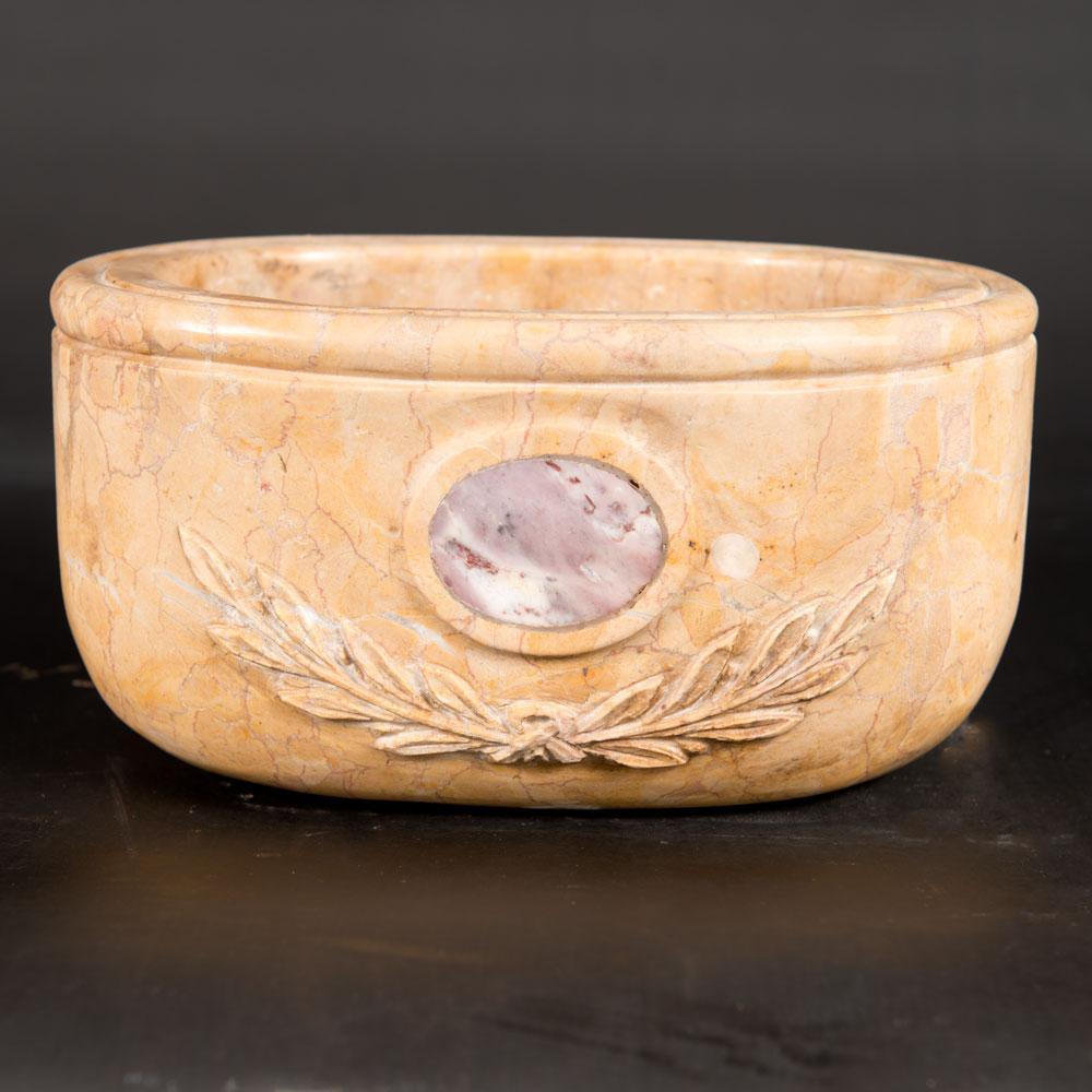 Oval marble basin