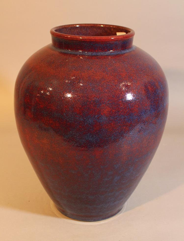 large art deco ceramic vase. Black Bedroom Furniture Sets. Home Design Ideas
