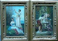 Hans Zatzka (1859-1945)-attributed, Pair of