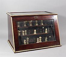 Game display box, consisting  several games; chess