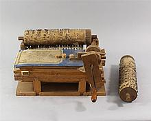 Musical mechanism, wood with one roll with metall