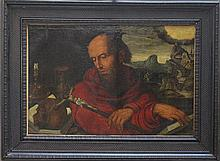Jan van Hemessen (1500-1566)-school of, Saint Jero