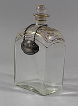 Brandy glass bottle,rectangular shape with small n