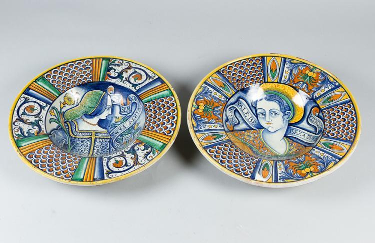 A pair of Deruta Ceramic Plates