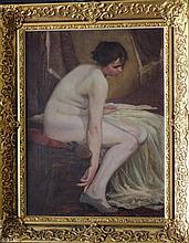 Antonin Brunner (1881-1958), Naked girl with shoes