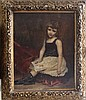Jean Baptiste Brunel (1850-1929)-circle, Girl with, Jean-Baptiste-Cyprien Brunel, Click for value