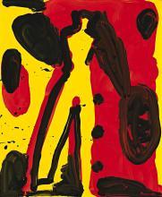 AKI KURODA, born 1944, Japanese, UNTITLED, c.1993, synthetic polymer paint on linen